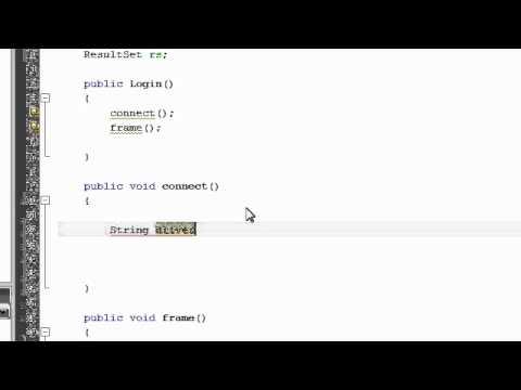 Java User Login system - 1 - Database Connection