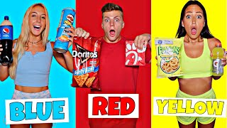 EATING ONLY ONE COLOR FOOD FOR 24 HOURS!