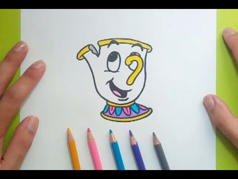 Como dibujar a Chip paso a paso - La Bella y la Bestia | How to draw ...