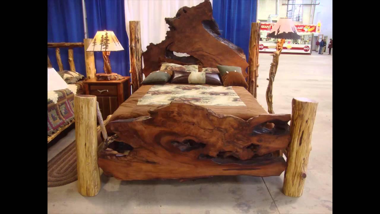 Dormitorio muebles de madera natural - YouTube