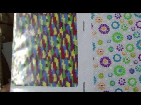 Xiamen Lingtie Machinery  Heat transfer film samples