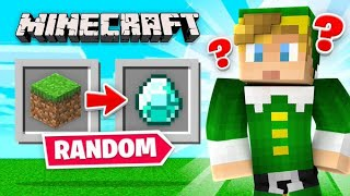 Minecraft But EVERYTHING Is *RANDOM*