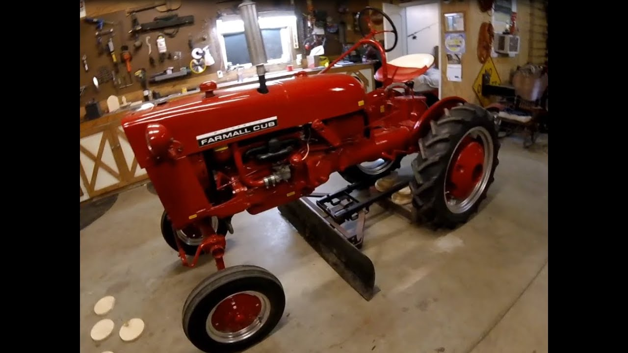 Mounting the Grader/Snow Blade to the Farmall Cub