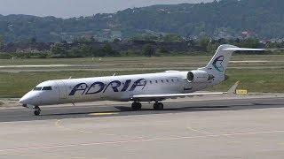 Adria Airways CRJ-700 landing at Graz Airport   S5-AAY