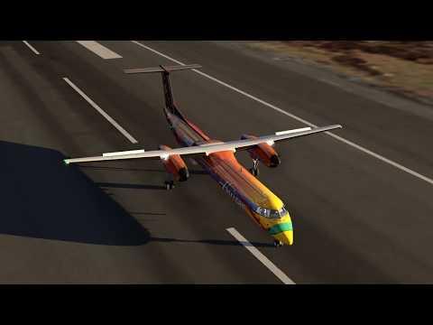 [AF Fs2] New Free DLC Dash 8 Q400 In SFO