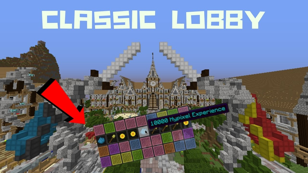 NEW!! HYPIXEL CLASSIC LOBBY + CLASSIC TOKENS SPIN!