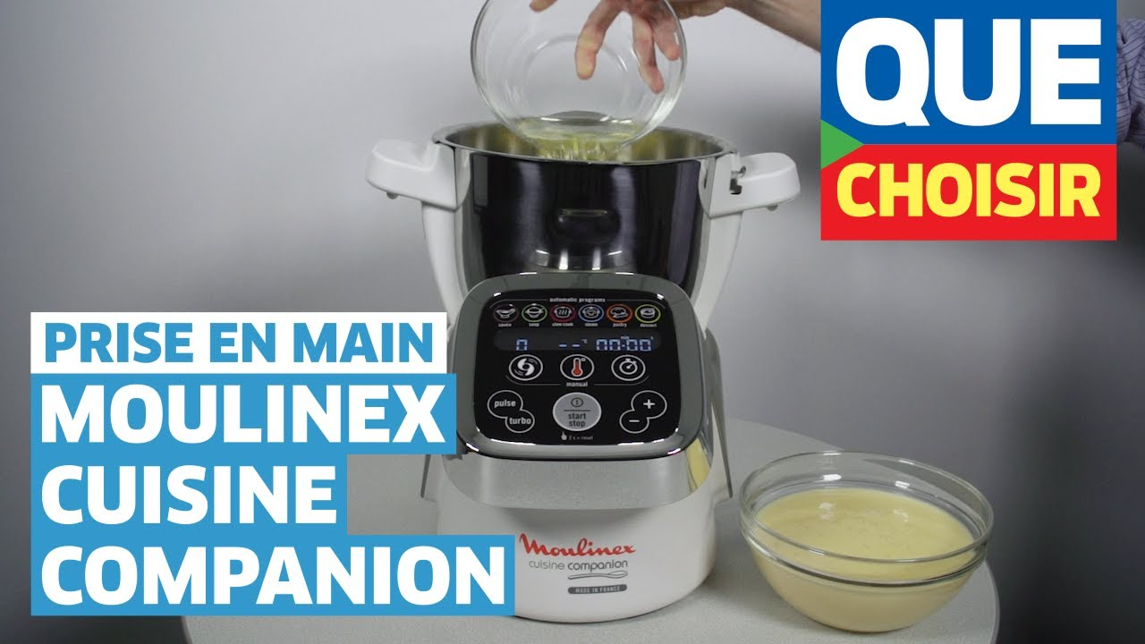 Moulinex cuisine companion prise en main youtube for Cuisine companion