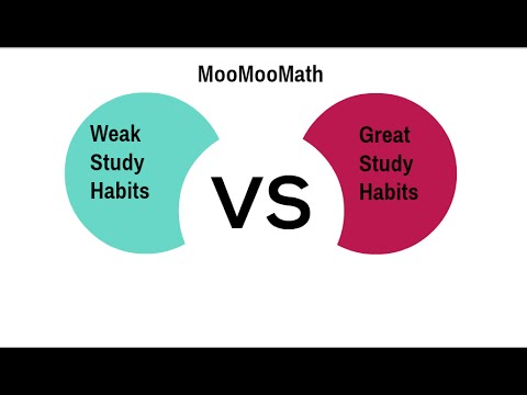 weak study habits vs great study habits study skills  weak study habits vs great study habits study skills