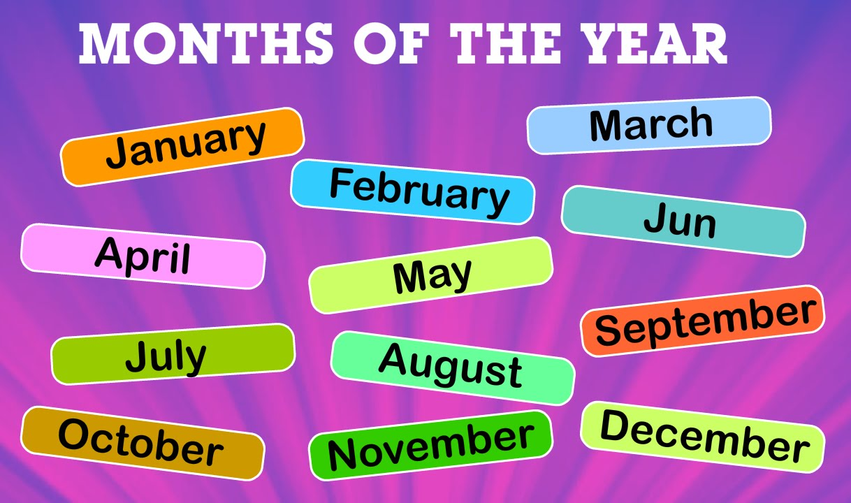 Months Of The Year For Kids Name Of Months Kindergarten