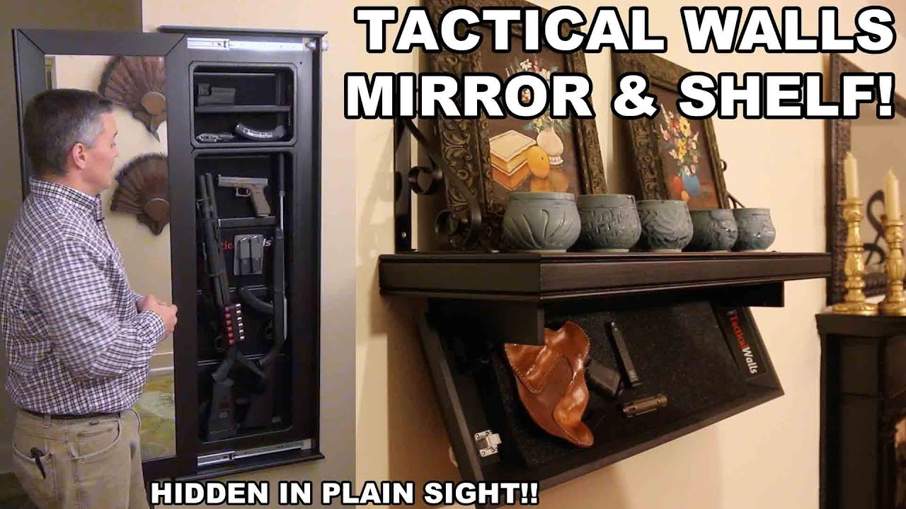 Tactical Walls Mirror Amp Shelf Hidden In Plain Sight Youtube
