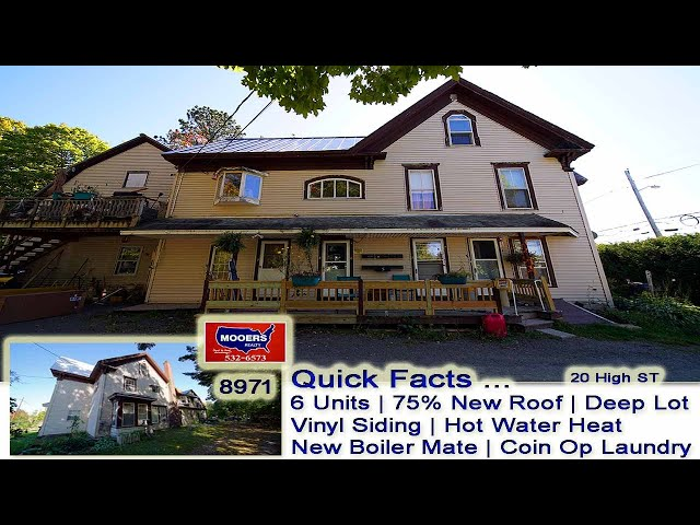 Apartment Houses In Maine For Sale | 20 High ST Houlton ME Rental Units MOOERS REALTY #8971