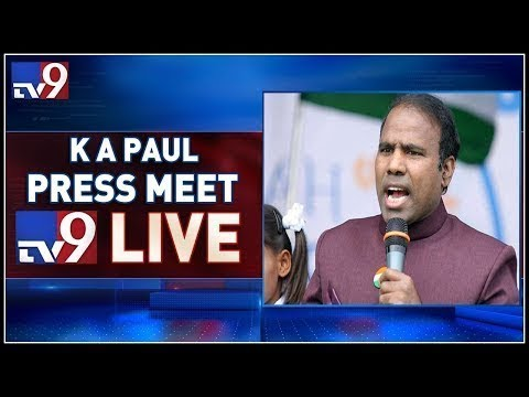 KA Paul Press Meet LIVE || Delhi - TV9