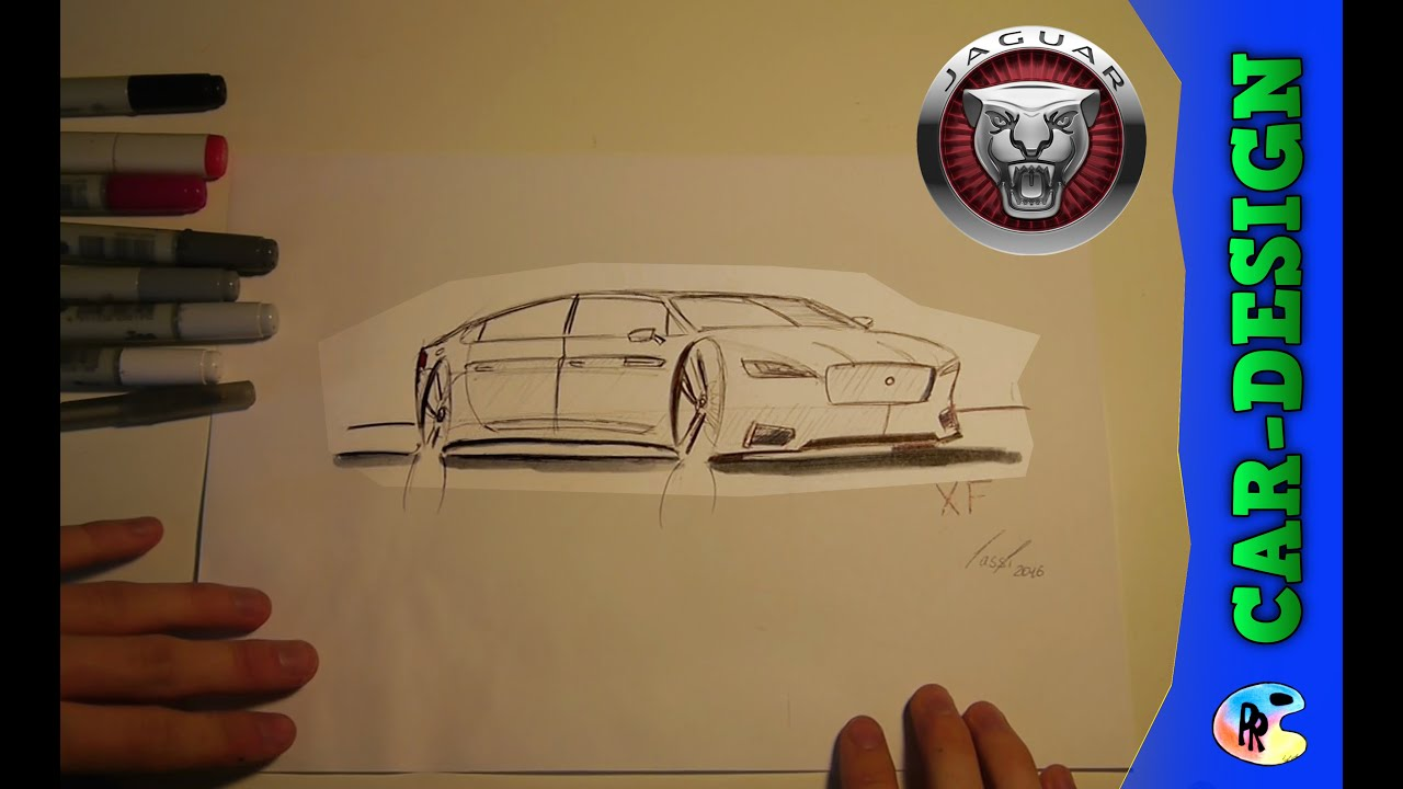 Car Sketch Jaguar Xf Car Design Sketch Speed Drawing 2016