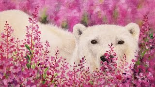 Polar bear attacked the dogs
