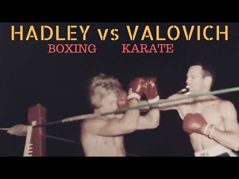 Real BOXING VS. KARATE Match and Commentary (HADLEY VS VALOVICH) 1976