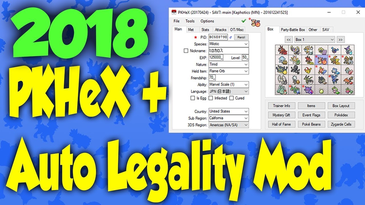 How to install the Auto Legality Mod in PKHeX! - 2018 UPDATE! (Outdated)