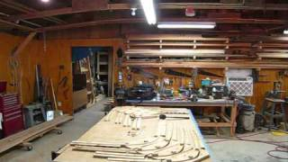 Steam Bending Oak Ribs Wooden Boat Restoration