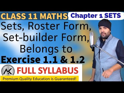 Exercise 1 1 & 1 2 Chapter 1 Sets Class 11 Maths - YouTube