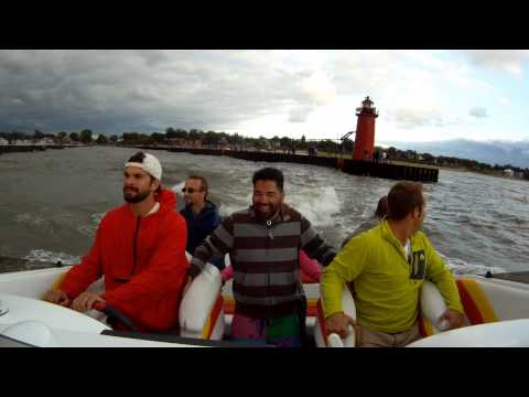 Wave jumping in Josh's Donzi GO FAST boat! - YouTube