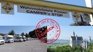 Leni & Toni CHECK: Wohnmobilplatz Camper's Stop in FÜSSEN   Schwangau  