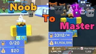Noob To Master! Unlocked All Areas! Max Lvl Jetpack & Best Pet! - Jetpack Simulator
