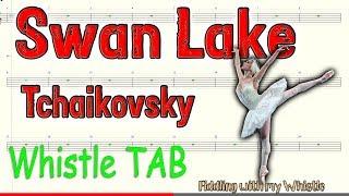 Swan Lake - Tchaikovsky - Tin Whistle - Play Along Tab Tutorial