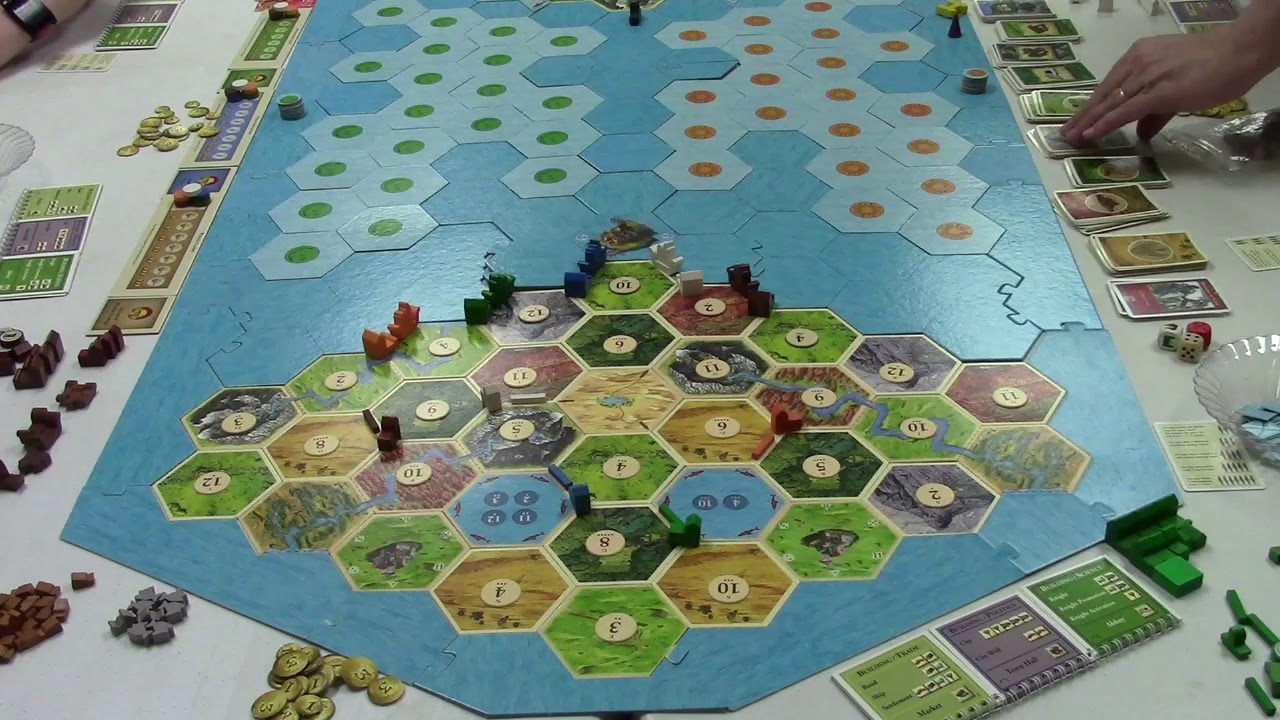 Catan All 4 Expansions Game Part 1 Youtube