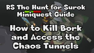 RS l How to Kill Bork and Access the Chaos Tunnel l The Hunt for Surok Miniquest Guide l RuneScape