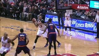 Taj Gibson Sneaks Behind Suns Defense for Alley-Oop Dunk