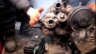 Запуск мотора audi b3, 1.6tdi без машины