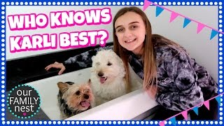 WHO KNOWS KARLI BEST? ☆☆ DO THE DOGS LIKE THEIR NEW BATH? ☆☆ #OFNEggHunt Clue 3