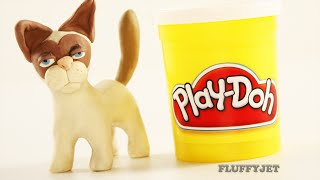 Grumpy Cat Play Doh STOP MOTION Videos Toy Movie Clips 3D Animation for kids