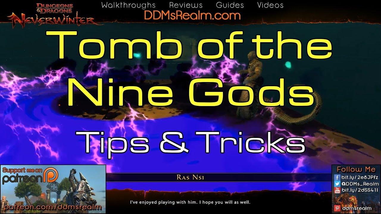 Neverwinter - Tomb of the Nine Gods Tips Tricks Walkthrough Guide