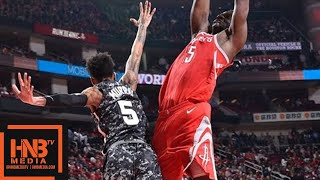 Houston Rockets vs San Antonio Spurs Full Game Highlights / March 12 / 2017-18 NBA Season