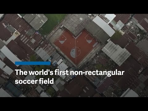 The world's first non-rectangular soccer field