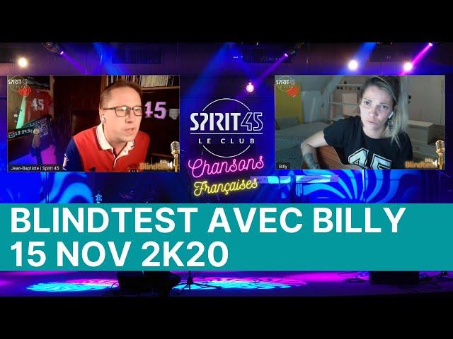 Blindtest avec Billy le Replay du 16.11.2020 - Special Chanson sFrançaises