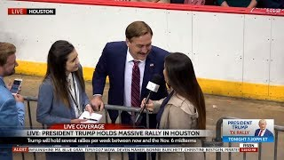 INCREDIBLE Interview w/MyPillow® CEO Mike Lindell at Trump Rally in Houston