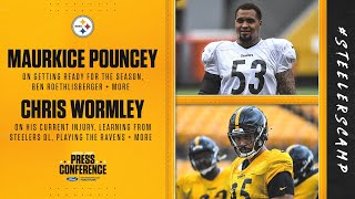 Maurkice pouncey on ben roethlisberger, getting ready for the season | chris wormley being opener, learning from steelers defensi...