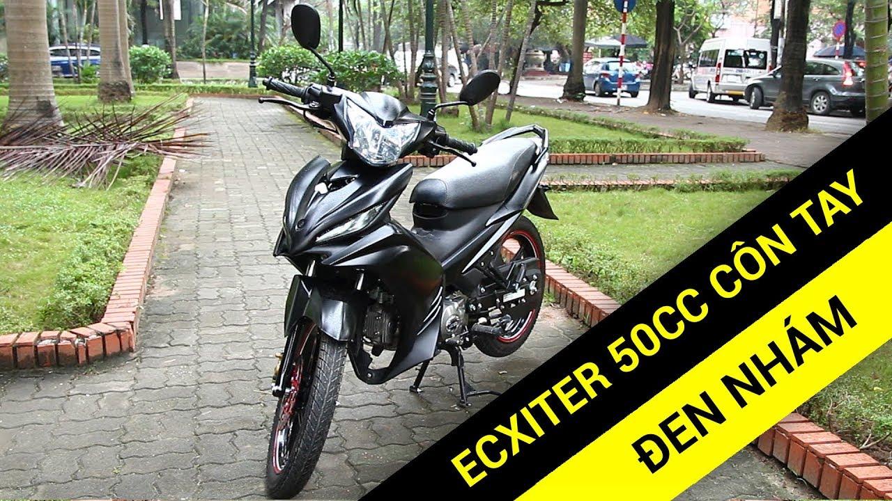 Exciter 50cc côn tay đen nhám bản đặc biệt không cần bằng lái
