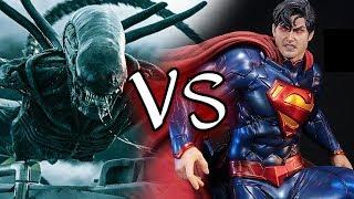 【帥狗美漫】超人、蝙蝠俠VS異形、終極戰士_腦洞大開夢幻PK(superman & batman vs alien & predator)#1