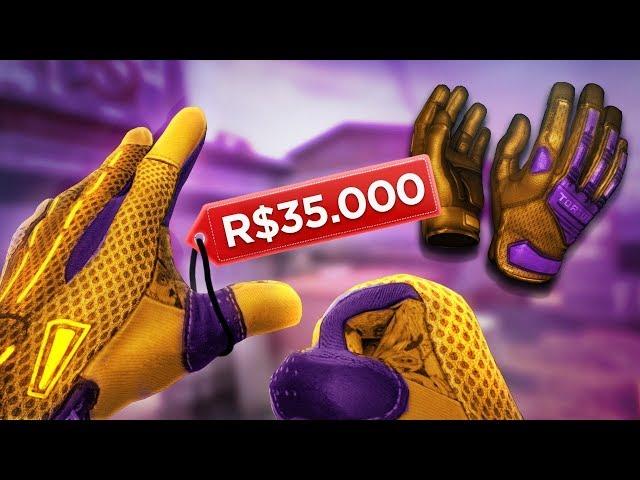AS LUVAS MAIS RARAS do CS:GO POR R$35.000,00! (vocês não vão acreditar)