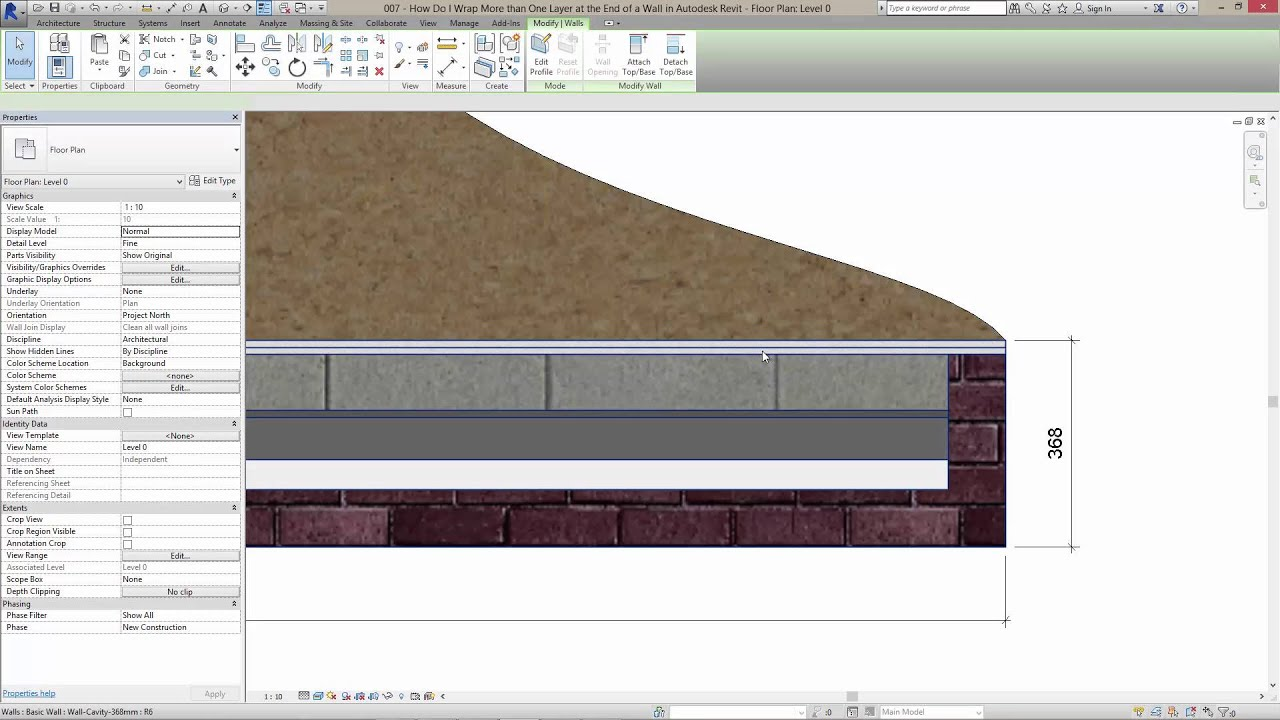 How Do I Wrap The End Of A Wall In Autodesk Revit Youtube
