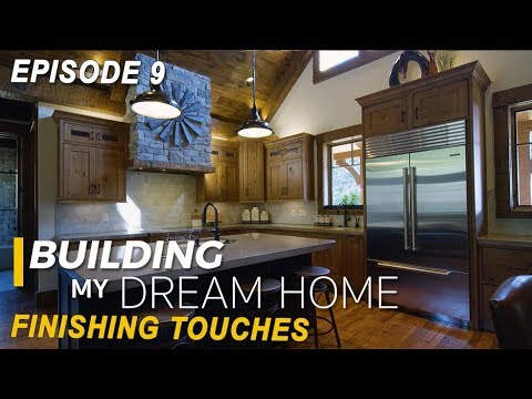 Ep 9 Building My Dream Home Finishing Touches Kitchen Ideas Tile Flooring Reclaimed Wood Trim