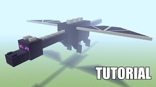 Minecraft Tutorial: How To Make A ENDER DRAGON STATUE!!! (EASY)