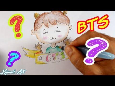 Bts Kawaii Desenho Fofo Passo A Passo Youtube