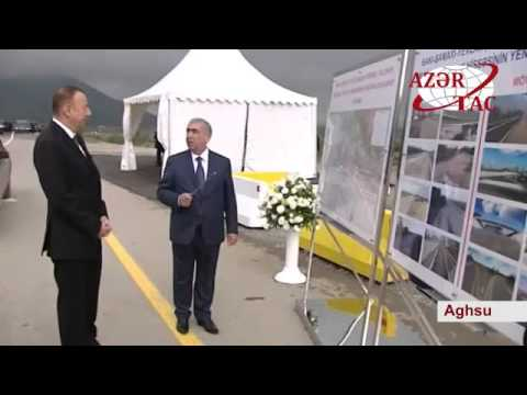 President Ilham Aliyev attended the opening of Mughanli-Yevlakh section