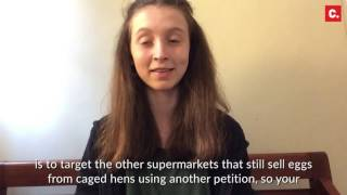 Tesco will end sale of caged hen eggs after teenager Lucy's petition