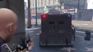 ASMR gameplay GTA V Polícia: Assalto a banco (Português)