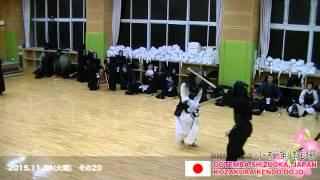20151124 TUE C20 Kendo Japan Keiko(practice) No.20 Kozakura Kendo Dojo
