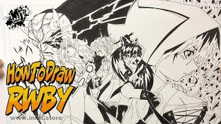 How To Draw RWBY Anime ( Draw Anime in 10 minutes )